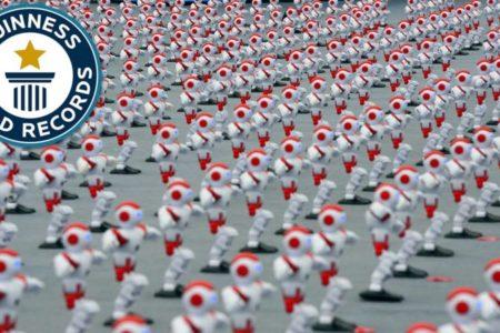 Nouveau record du monde de robots-danseurs : 1069!